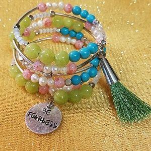 Gemstone Bracelet with Tassel